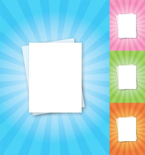 paper sheets sunburst effect