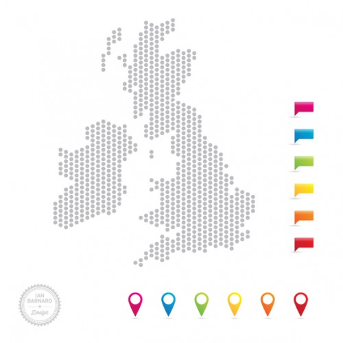 UK map icon pointers