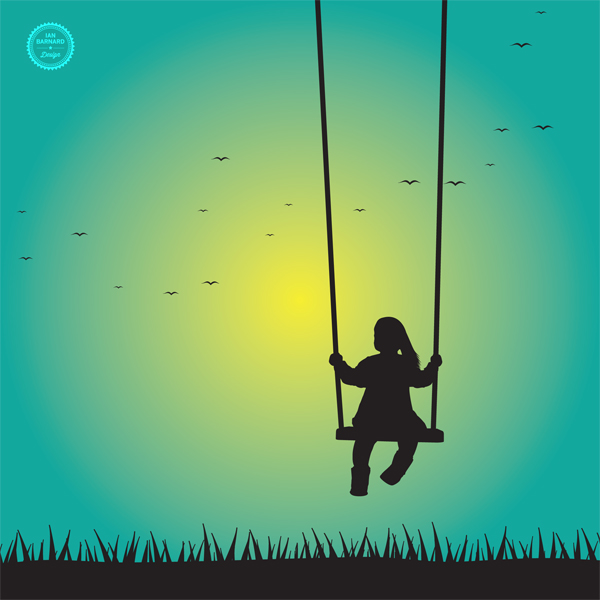 Girl Swinging Silhouette