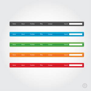 Glossy Website Menu Elements