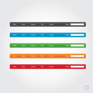 Glossy Website Menu Elements