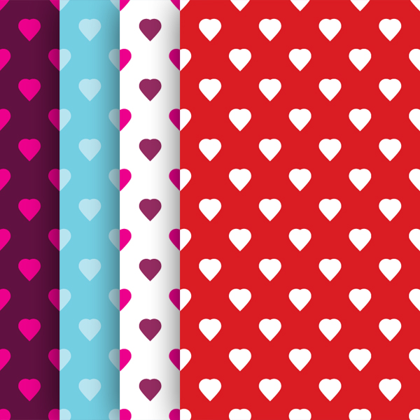 Love Hearts Background Vector