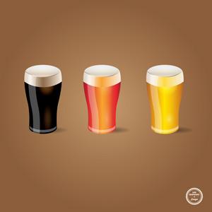 Vector glasses of beer