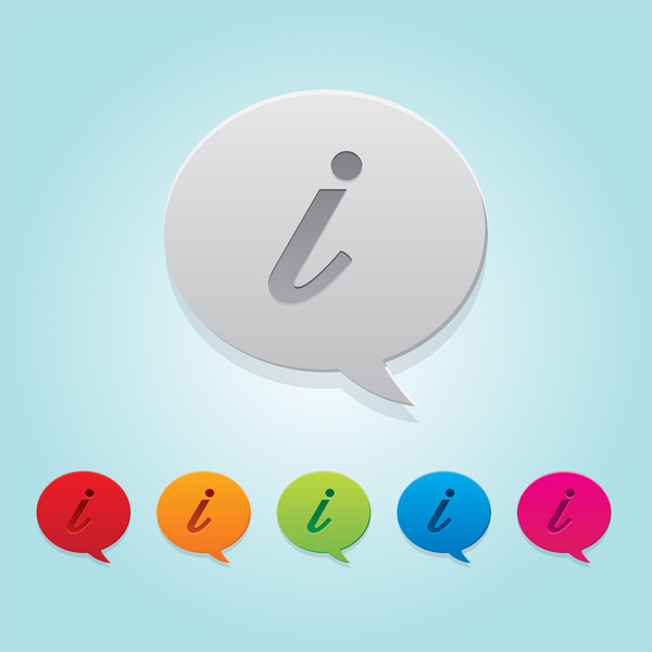 Information Speech Bubble icons