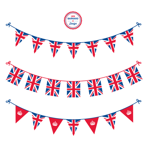 vector bunting union jack flag