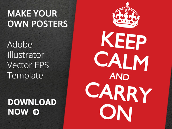 keep calm and carry on vector poster