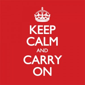 Keep Calm and Carry On Poster Vector Template