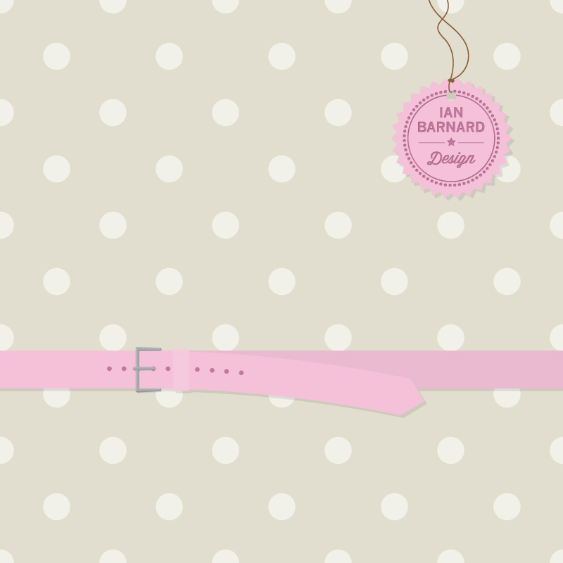Shabby Chic Background And Belt Vector