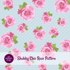pink rose shabby chic pattern