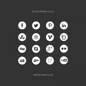 Free Social Media Icons in Mono