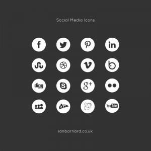 Free Social Media Icons in Mono