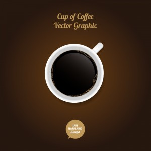 cup of coffee vector graphic