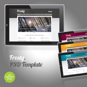 Frosty PSD Web Template