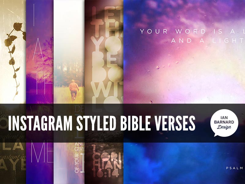 Instagram styled Bible verse posters vintage