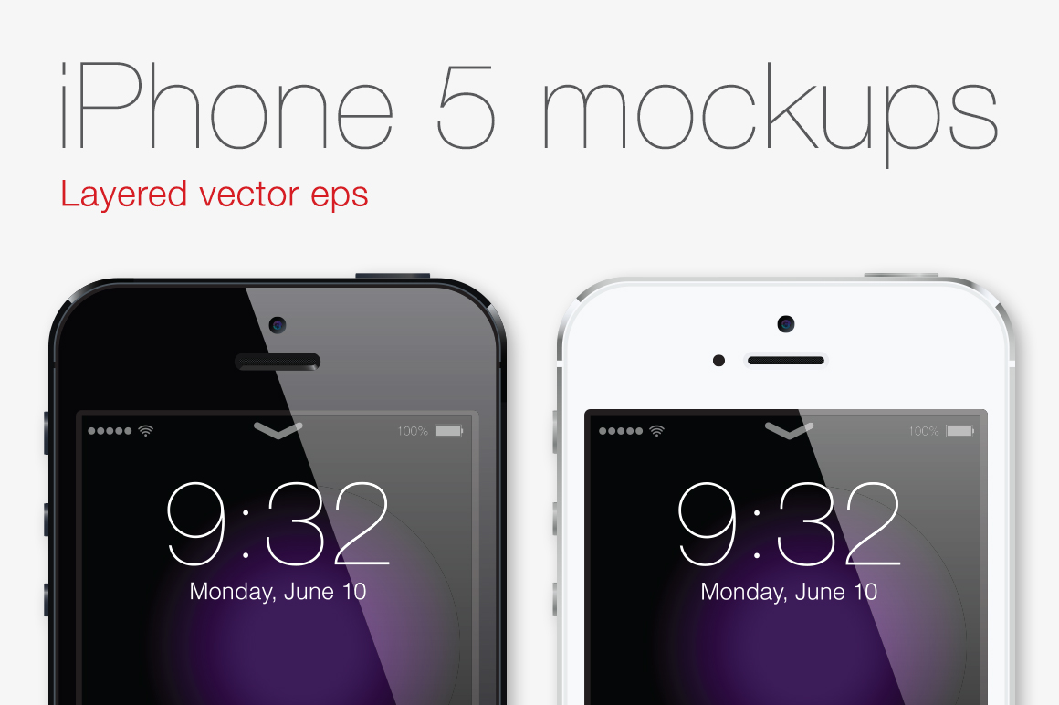 iphone5 mockups iOS7