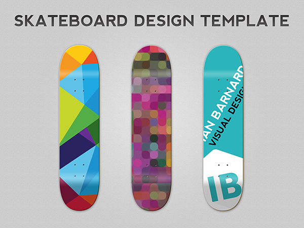 skateboard design template photoshop psd vector