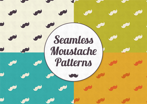seamless-shabby-chic-moustache-patterns