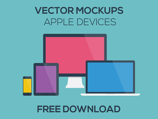 Apple iOS Devices Vector mockup