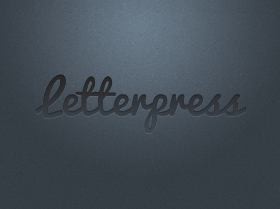 letterpress final image psd