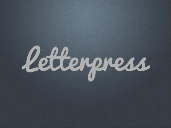 letterpress lettering type