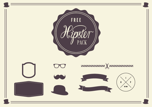 free hipster vector elements