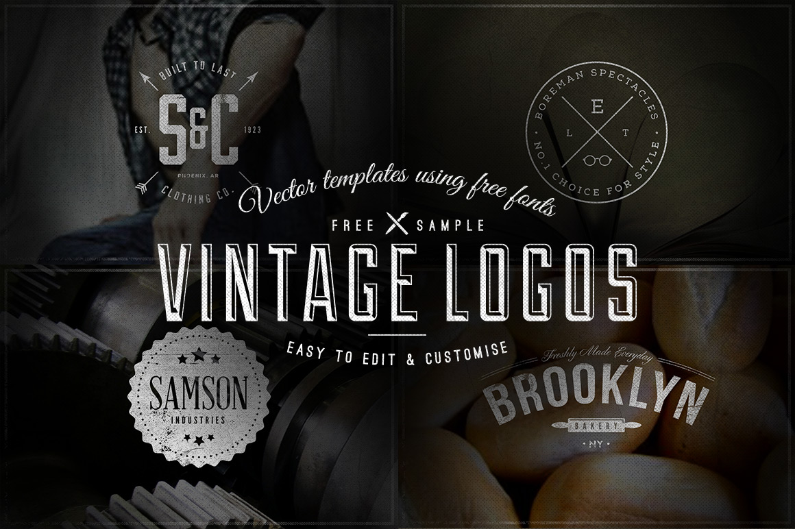 Free Download 4 Vintage Logos Badges Vector Templates Ian Barnard