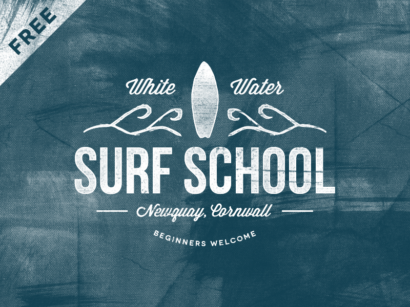 Free logo Friday. Download this Vintage Surf School logo to use in any ...