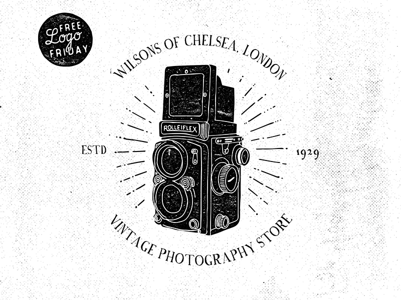 vintage photography logo