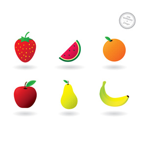 6 Free Fruit Vector Icons