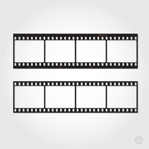 Photography Film Strip Vector Template