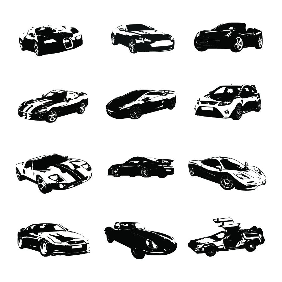 Free Vector Silhouettes Of Sports Cars Ian Barnard