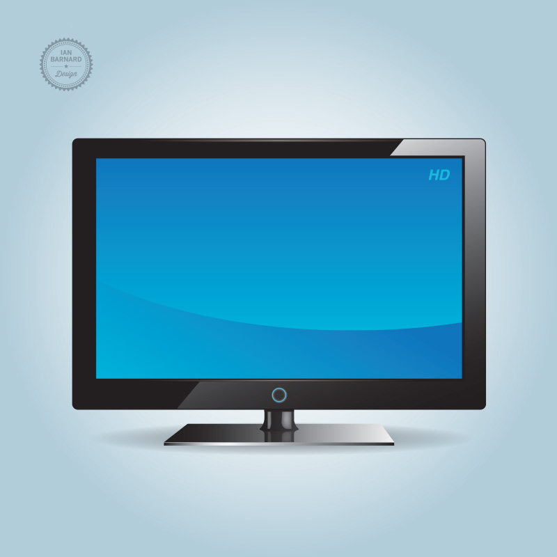 HD TV Vector
